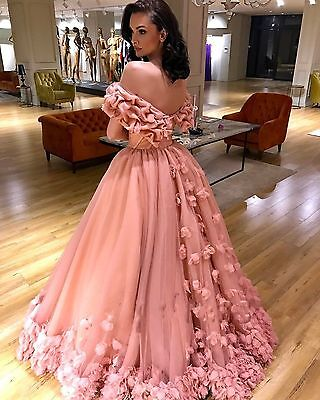Long Formal Bridesmaid Dress flower Ball Gown Evening Party Cocktail Prom Dress