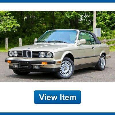 1988 BMW 3-Series  1988 BMW 325i Sport Convertible Automatic Super Low 75K mi Serviced CARFAX!