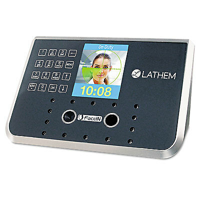 Face Recognition Time Clock System. 500 Employees, Gray, 7-1/4 X 3-1/2 X 5-1/4-L