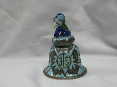 Chinese Enameled Foo Dog Bell Great Condition