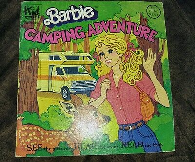 Vintage 1981 Barbie Camping Adventure book & record set