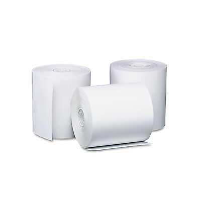 """Single Ply Thermal Cash Register/pos Rolls, 3 1/8"""" X 119 Ft., White, 50/ct-PMC05"""