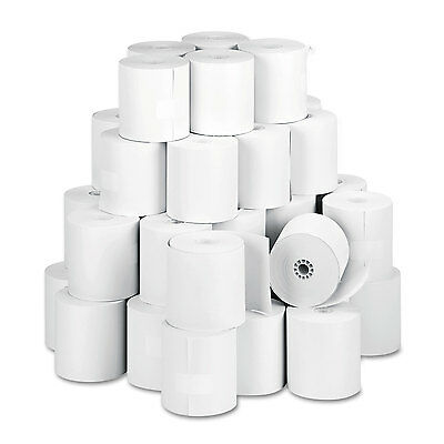 """Paper Rolls, One Ply Teller Window/financial, 3"""" X 150 Ft, White, 50/carton-PMC0"""