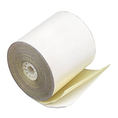 """Paper Rolls, Credit Verification, 2 1/4"""" X 70 Ft, White/canary, 50/carton-PMC092"""