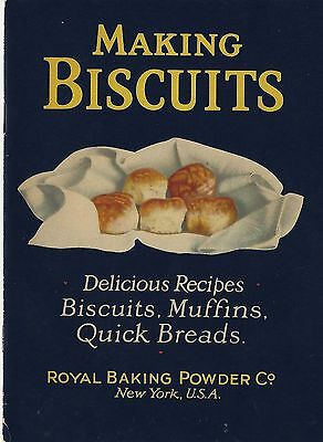 "VINTAGE 1927 ROYAL BAKING POWDER ""MAKING BISCUITS"" COOK BOOK Great Graphics"