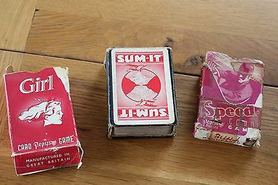 Vintage Pepys Game Cards  Speed Girl And Sum-It For Spares Etc...3 Packets