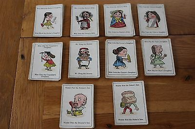 Vintage Card Game Happy Families John Jaques Complete Set No Box
