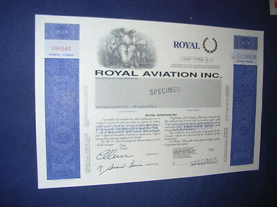 CANADA: Royal Aviation Inc, specimen, bilingual