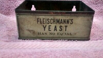 Vintage Fleischmann's Yeast Has No Equal Litho Tin Rare Advertising Store Usa