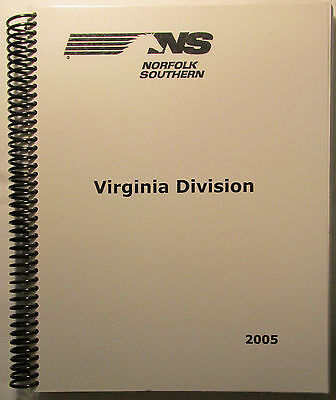 NS Norfolk Southern Virginia Division Track Chart 2005 NEW MINT CONDITION