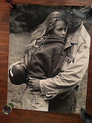 Rare Mid-1990s Black And White Abercrombie & Fitch Mural / Poster