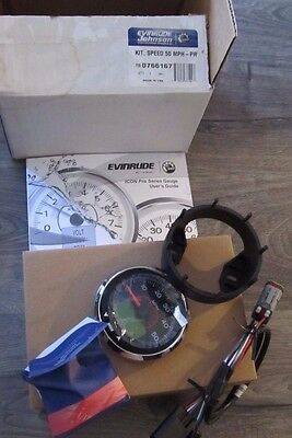 "New Evinrude 3"" Icon Pro LCD 50 MPG Speedometer Speed Kit E-Tec 0766161 766161"