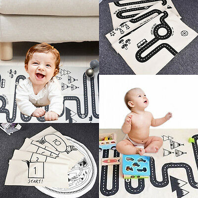 Soft Cotton Baby Kids Game Gym Activity Play Mat Crawling Blanket Floor Rug