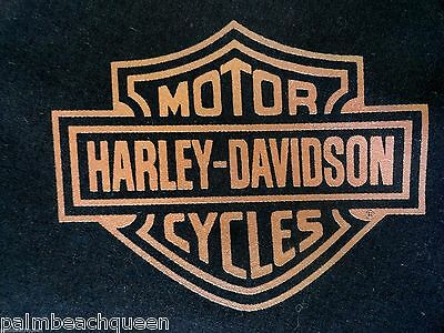 ~HARLEY-DAVIDSON BLACK w/Shield Cotton BIKER BANDANA HANDKERCHIEF 21X21