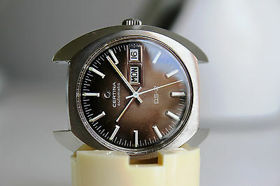 CERTINA DS-2 Automatic Certiday *NOS, BROWN dial, 1973*