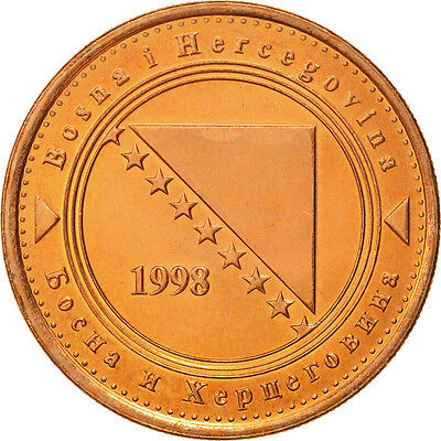 [#464393] BOSNIA-HERZEGOVINA, 50 Feninga, 1998, British Royal Mint, STGL, Copper