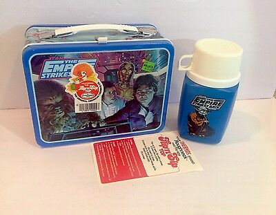 New Unused Vintage 1980 Star Wars The Empire Strikes Metal Lunch Kit Mint