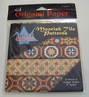 Dover Design Works Origami Paper 6 inch square 24 sheets 6 each of 4 designs