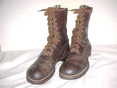 """ORIGINAL 1943-Dated Paratrooper """"Jump"""" Boots (Size 9.5EE) Used By Warner Bros."""