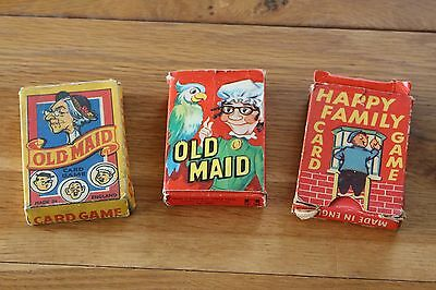 Card Games Happy Families And Old Maid Boxed Sets Playing
