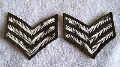 Pair Of Sergeant Stripes, Fad, British Army Issue.