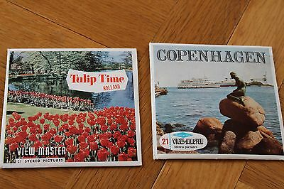 Sawyers Viewmaster View Reel Sets Copenhagen Denmark And Tulip Time Holland