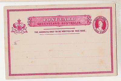 QUEENSLAND, Postal Card, 1881 1d. Carmine, unused, spots.
