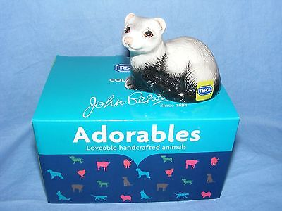 John Beswick The Adorables RSPCA Ferret JBTA4 Brand New Boxed