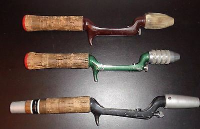 3 Different Heddon Pal Fishing Rod Handles Various Styles Used