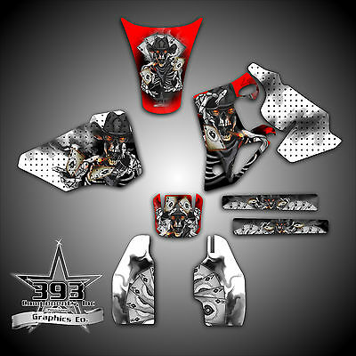 HONDA 2004-2009 CRF250 /& 2005-2008 CRF450 GRAPHICS WRAP DECALS CRF OUTLAW SKULL