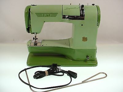 Vintage Elna Supermatic Sewing Machine Type 722010 Clean Tested- No Case