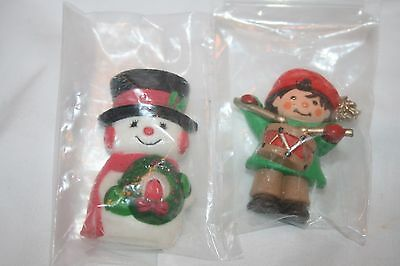 HALLMARK 1983 CHRISTMAS FRIDGE MAGNET Little DRUMMER BOY & snowman NEW