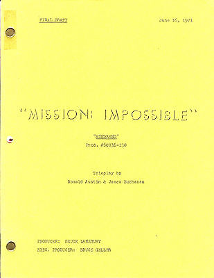 MISSION: IMPOSSIBLE original script MINDBEND