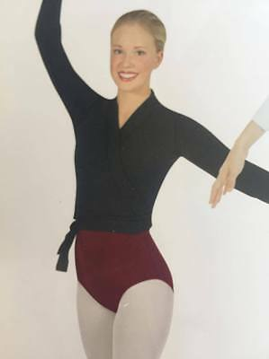Dance Ballet Top Crossover Burgundy Wrap - Medium Adult