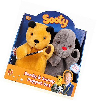 The Sooty Show Sooty and Sweep Hand Puppet Set Kids Toddler Imaginative Toy