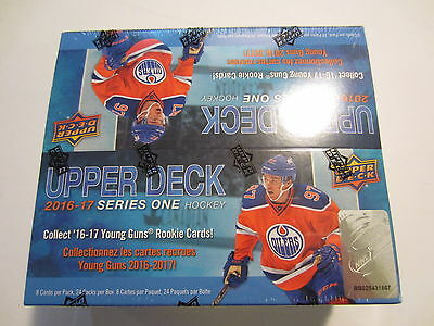 2016-17 UPPER DECK SERIES ONE RETAIL BOX SEALED NEW 24 PACKS w/ 6 YOUNG GUNS