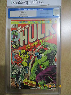The Incredible Hulk 181 - First Full Appearance of Wolverine CGC 9.0