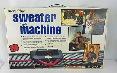 VINTAGE BOND INCREDIBLE SWEATER MACHINE AS SEEN ON TV NO VHS Open Box Never Used