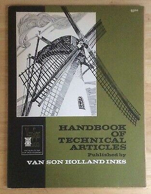 *van Son Holland Inks* Handbook Of Technical Articles 1966