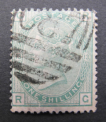 GB Used Abroad, C87 St. Domingo, Dominican Republic, 1/- Pl. 13, Z27, ex. Seaton