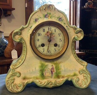 Antique Case Clock Made In France Cherub With Thyme CJCC Marking