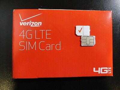New Verizon Nano 4Ff Sim Card 4G Lte Cdma  Prepaid Or Postpaid