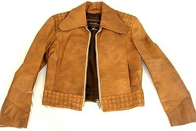 Bikicki Clothing mens vintage leather jacket size 42
