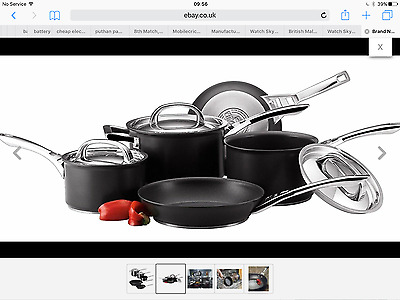 Brand-New-RRP£370-Circulon-Infinite-Hard-Anodised-Cookware set 5 Piece -black