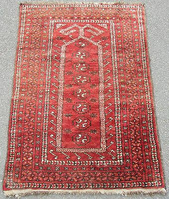 A Shabby Chic Country House Semi Antique Afghan Kizil Ayak Prayer Rug
