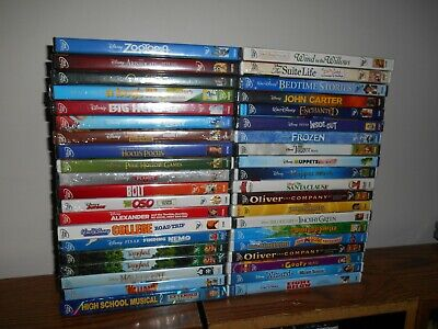 Lot of [40] Disney DVD: Kids/Family Movies] Frozen; Tangled+ 38 more] New Sealed