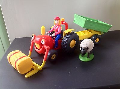 Springhill Farm Tractor Tom With Tipping Trailer Sheep & Farmer Fi Figure Set