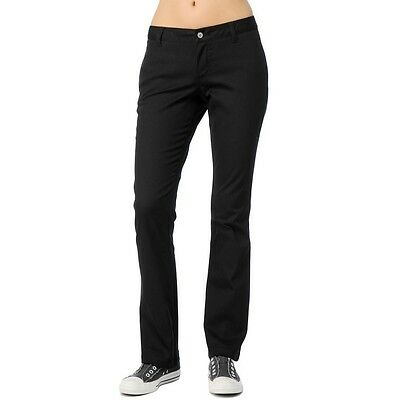 New Dickies Girls Black Hh874St Lowrider Straight Leg Pants Nwt With Tags Womens