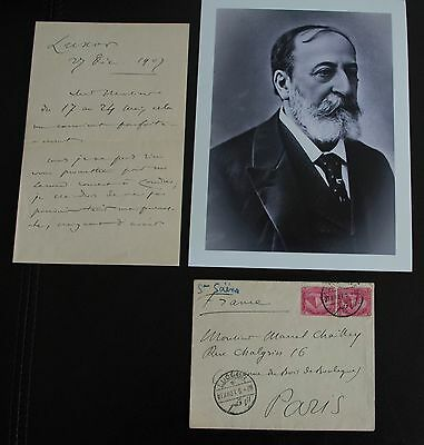 """Saint-Saens  camille Autograph  Signed letter  + glossy photo 7"""" X 9"""""""