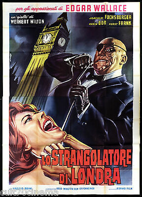 Lo Strangolatore Di Londra Manifesto Cinema Casaro Thriller 1963 Movie Poster 4F